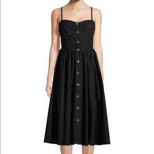 🖤NWOT🖤 Free People Black Button Front Midi Dress